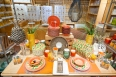Set a bright and welcoming table with new TAG plastic table wear found in the basement in the Home &  Garden Department.